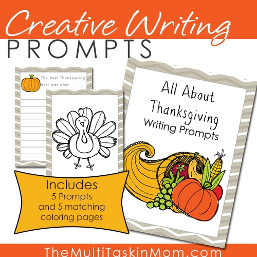Creative Writing Prompts - All About Thanksgiving