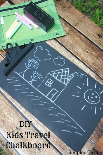 DIY Kids Travel Chalkboard