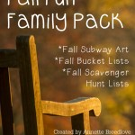 Fall Fun Family Pack {free} printables