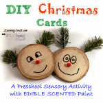 Preschool Sensory Activities: DIY Christmas Cards