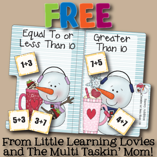 picture about Printable File Folder Games named Free of charge Printable Record Folder Match: Snowy Addition
