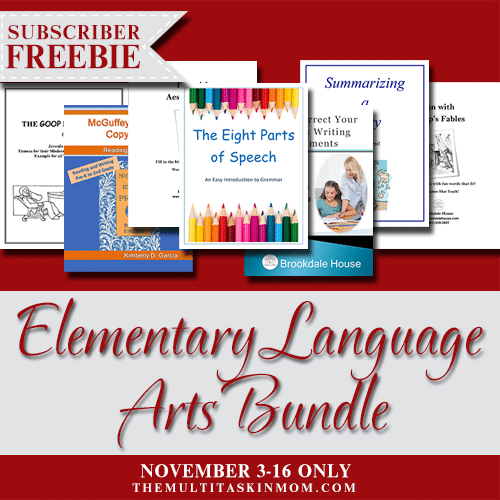 250 Pages of FREE Curriculum: Elementary Language Arts Bundle