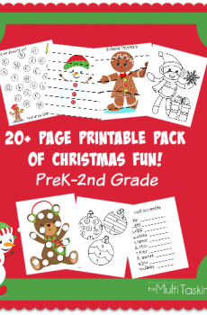 20+ Page Printable Christmas Pack