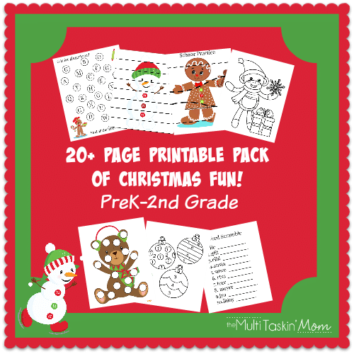20+ Page Printable Christmas Pack