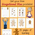 The Gingerbread Man Printable Pack – FREEBIE