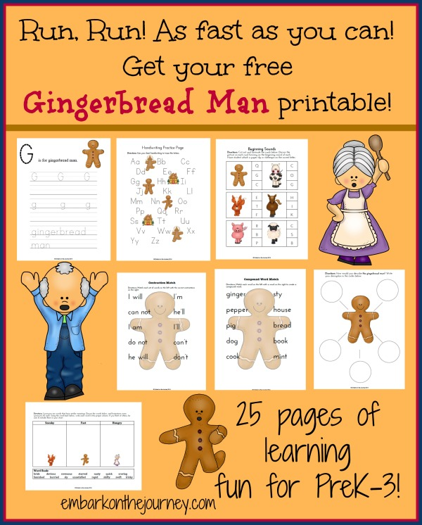 The Gingerbread Man Printable Pack – FREEBIE