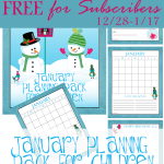 January Children's Planning Pack – FREE