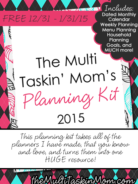 FREE Multi Taskin' Mom Planning Kit for 2015