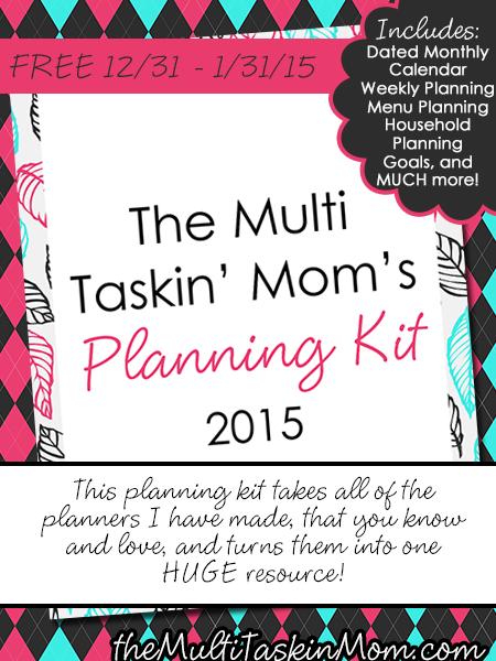 The Multi Taskin Moms Planning Kit 2015