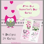 FREE Owl Themed Valentines