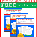 Cursive Handwriting from the Bible Books 1-3 FREE