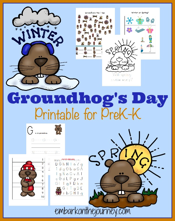 Free Groundhogs Day Printable Pack The Multi Taskin Mom