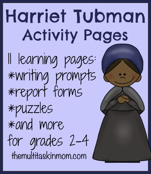photograph regarding Harriet Tubman Printable Worksheets named Harriet Tubman Machine Investigate and Absolutely free Printable - The Multi