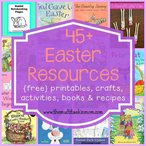 Easter is just around the corner. Make the day special with these fun activities, printables, recipes and MORE!! :: www.themultitaskinmom.com