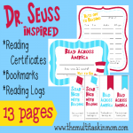 FREE Dr. Seuss Inspired Reading Supplies