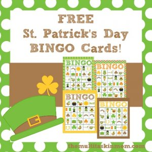 FREE St. Patrick's Day Printable BINGO Cards