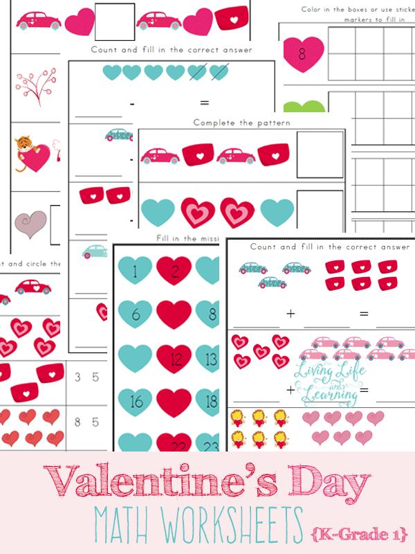 math worksheet : free printable valentine math worksheets for kindergarten  : Monster Math Worksheets