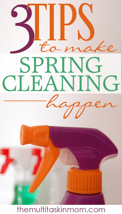 3 Tips on how you can make spring cleaning happen