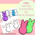FREE Easter Peeps Printable Coloring Pages and Puzzle Pack