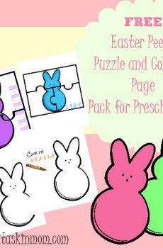 Easter Peeps Puzzle and Coloring Page Preschool Pack