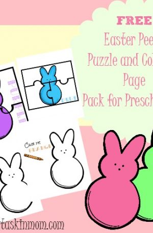 Easter Peeps Printable Coloring and Activity Book