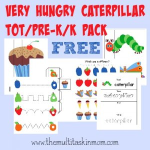 This Hungry Caterpillar Tot Pack is the perfect compliment to the adorable story by Eric Carle. {33 pages of activities} :: www.themultitaskinmom.com