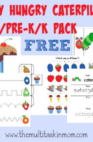 Hungry Caterpillar Tot – PreK Pack