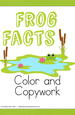Frog Facts Color and Copywork