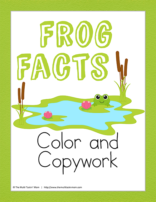 Frog Facts Color and Copywork thumb
