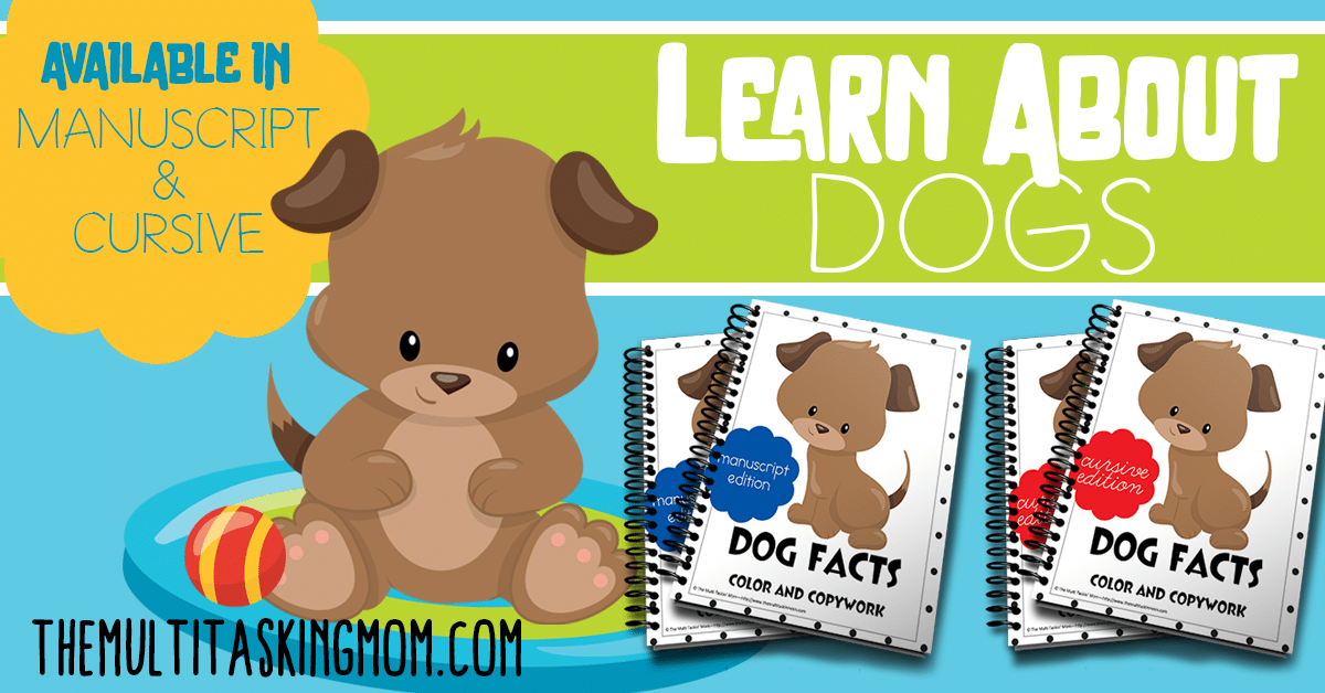 Dog Facts Color and Copywork