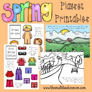 Spring is finally showing up!! Grab these SUPER CUTE and FREE Spring Printable Playsets!! {34 total pages} :: www.themultitaskinmom.com