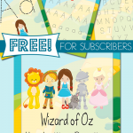 Wizard of Oz Handwriting Freebie