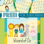 Wizard of Oz Handwriting Practice in Cursive