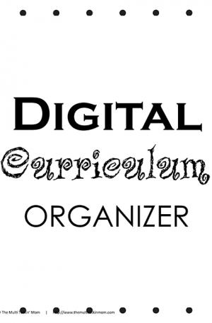 Digital Curriculum Organizer
