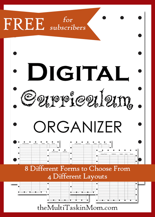 Organize your Digital Curriculum