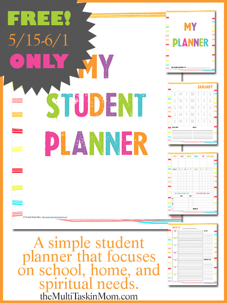 FREE Colorful Student Planner - Limited Time Offer