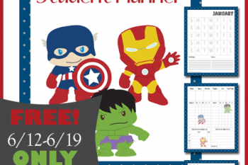 FREE Hero Themed Student Planner for Limited Time