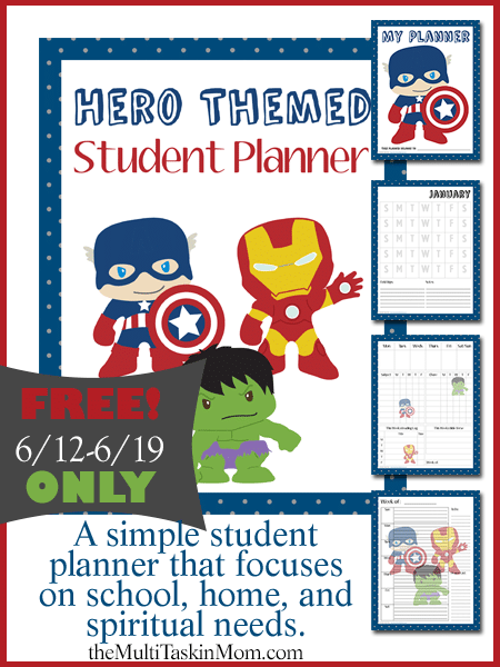 FREE Hero Themed Student Planner - Limited Time Only
