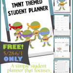 FREE TMNT Themed Student Planner