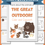 Facts about the Animals of the Great Outdoors Color and Copywork