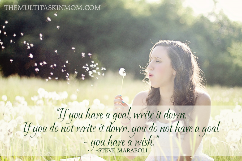 If you have a goal, write it down. If you do not write it down, you do not have a goal - you have a wish.