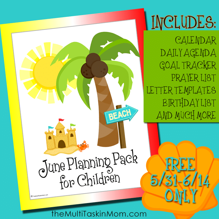 FREE for limited Time – June Children's Planning Pack