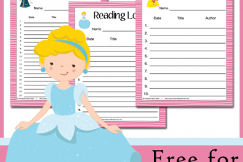 FREE Princess Themed Reading Log