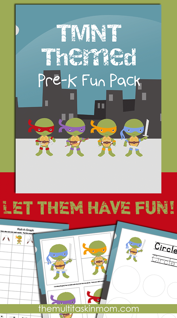 The TMNT Fun Pack is perfect for your littles to get some school work done without being bored