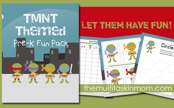 TMNT Themed PreK Fun Pack