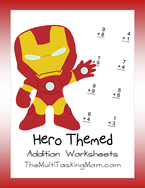 Hero Addition Worksheet