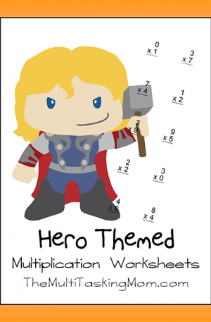 Hero Themed Multiplication