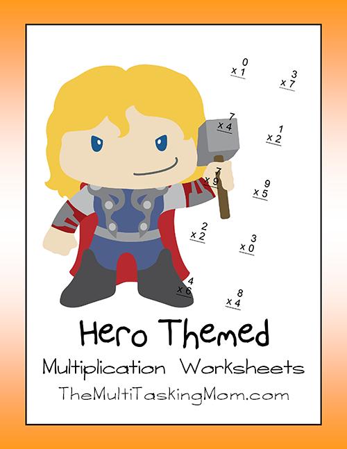 Hero Themed Multiplication