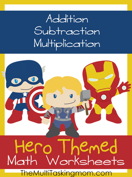 Hero Themed Math Worksheets Available Now