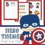 FREE Hero Themed PreK Fun Pack